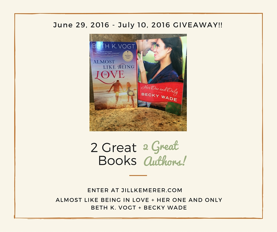 2 Great Books Giveaway! Week 2: Almost Like Being In Love