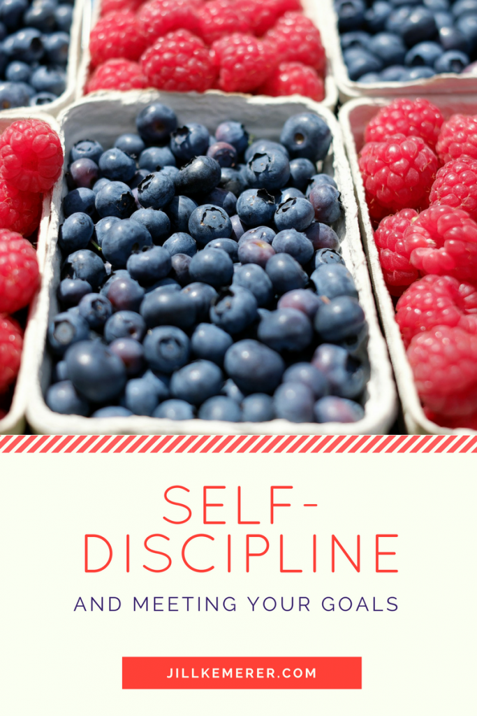 Self-Discipline and Meeting Your Goals