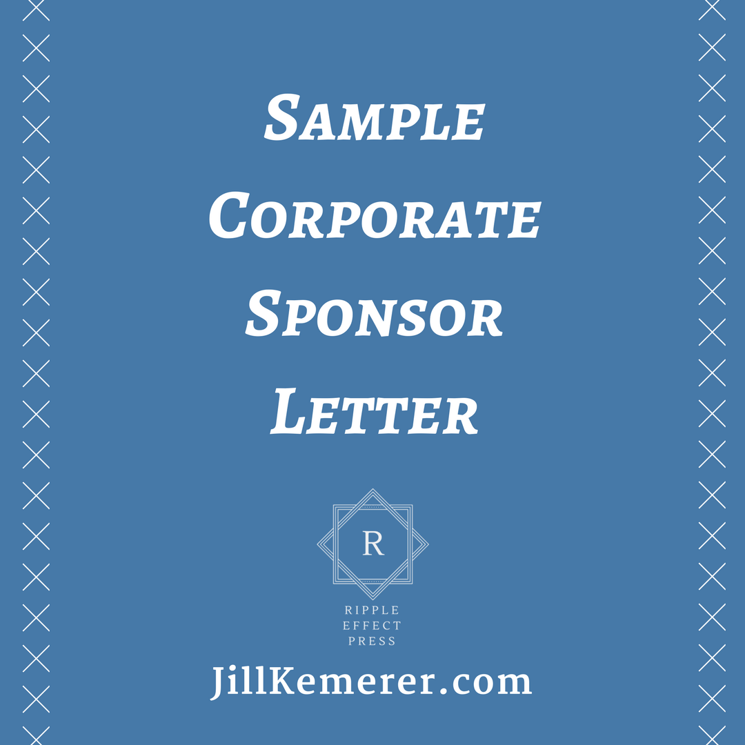 Sample Corporate Sponsor Letter