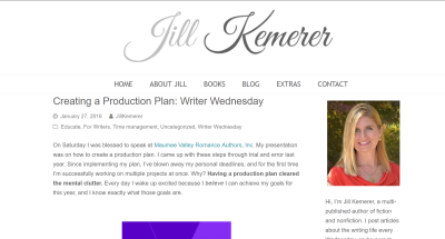 Jill Kemerer | Creating a Production Plan