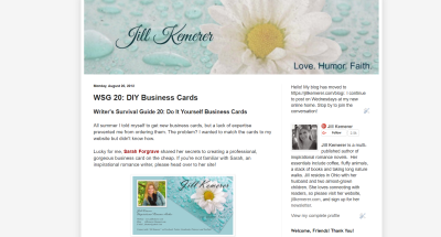 Jill Kemerer | DIY Business Cards
