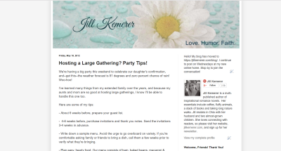 Jill Kemerer | Hosting a Large Gathering Tips