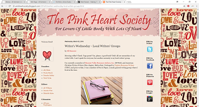 The Pink Heart Society | Writer's Wednesday - Local Writer's Groups