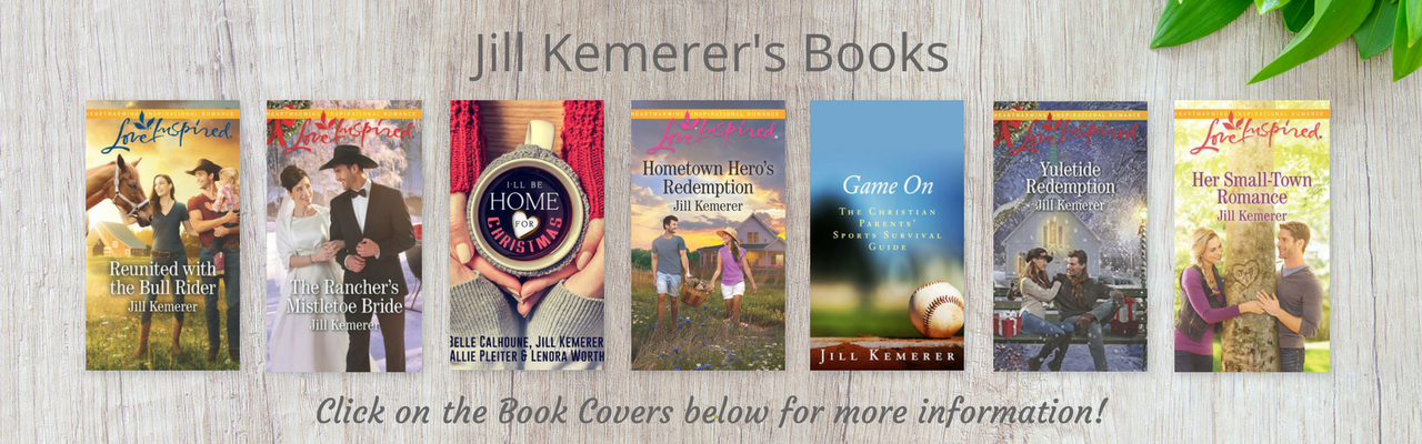 Books by Jill Kemerer, including Wyoming Cowboy series, Lake Endwell series, Game On