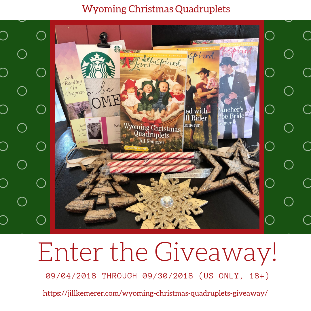 Wyoming Christmas Quadruplets Giveaway By Jill Kemerer