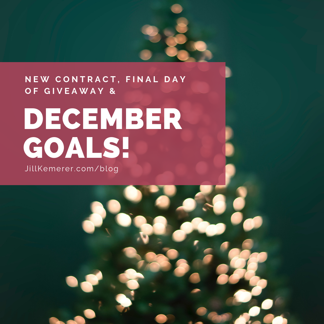 New Contract, Goals And Final Day Of Giveaway, Jillkemerer.com/blog