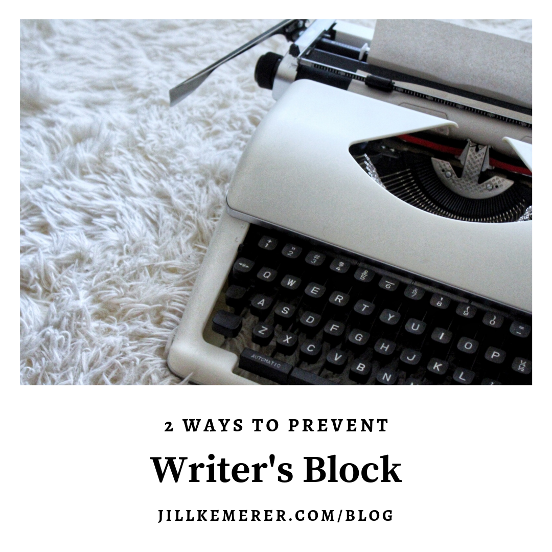 2 Ways I Avoid Writer's Block By Jill Kemerer #ww