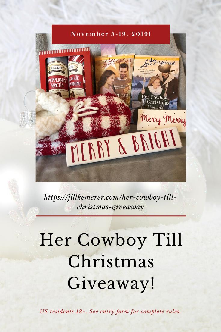 Her Cowboy Till Christmas Giveaway! Jillkemerer.com/blog