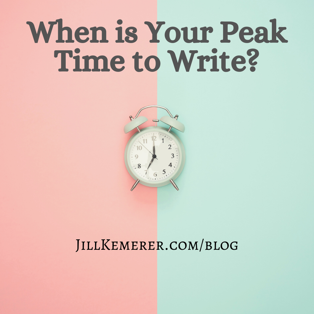 When is your peak time to write? Jill Kemerer