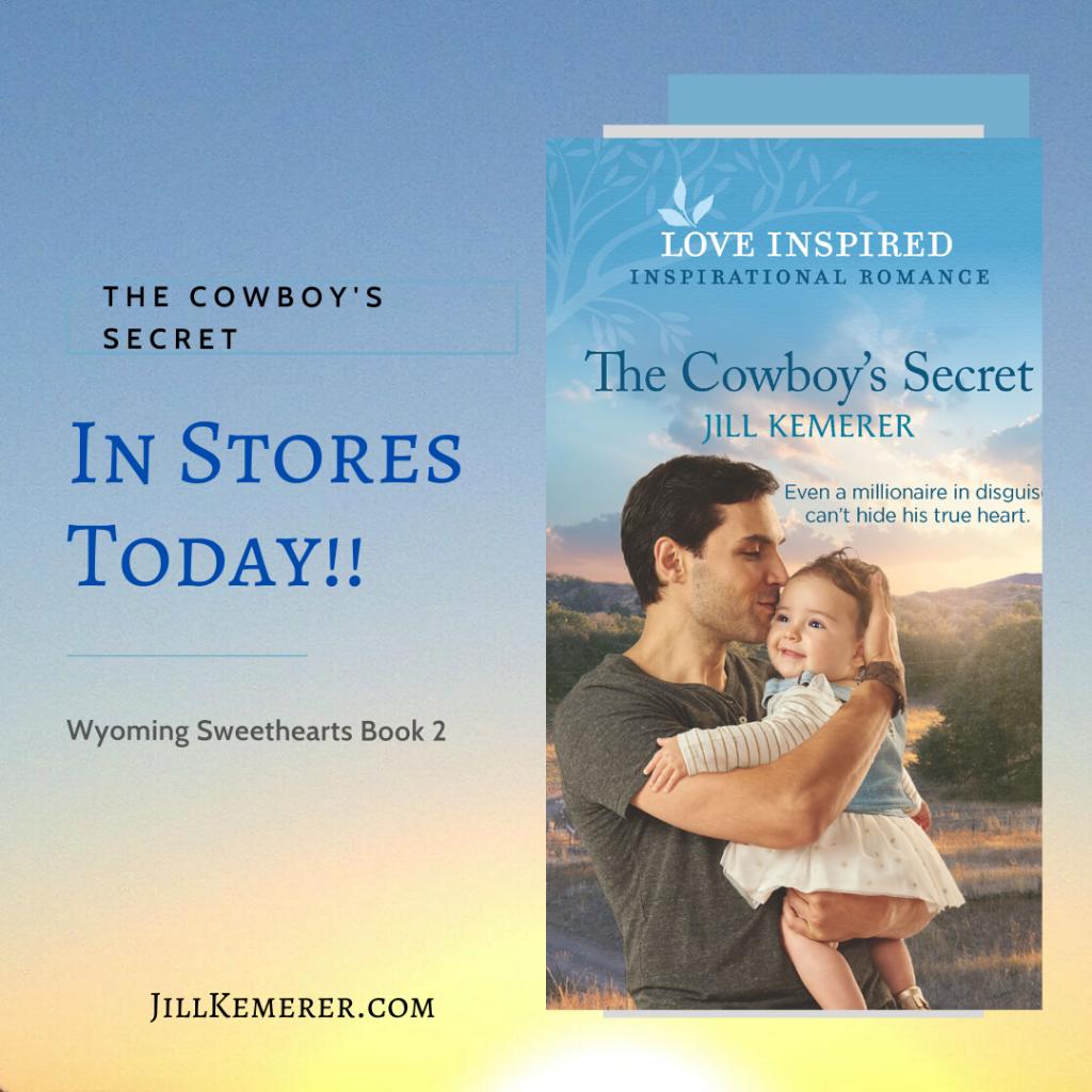New Release The Cowboy's Secret, inspirational romance, Jill Kemerer