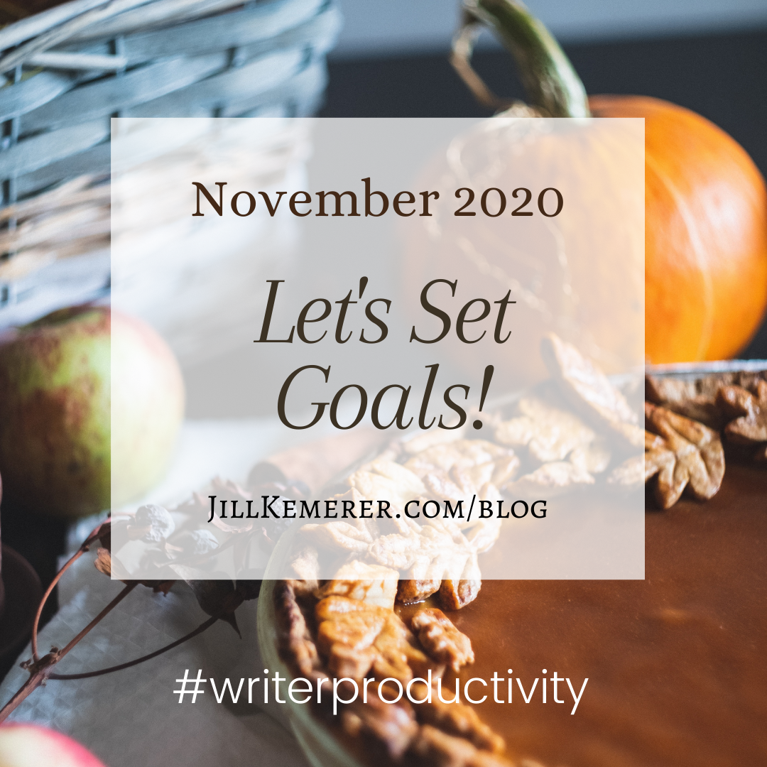Let's Set Goals November 2020, Jill Kemerer