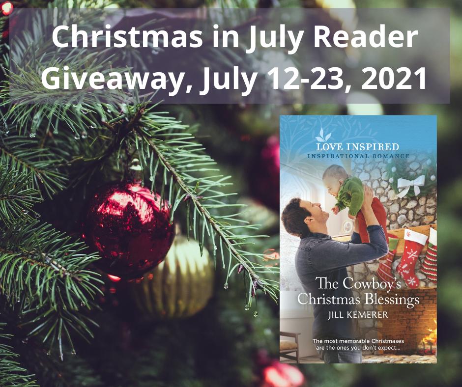 Christmas In July Reader Giveaway. Jill Kemerer