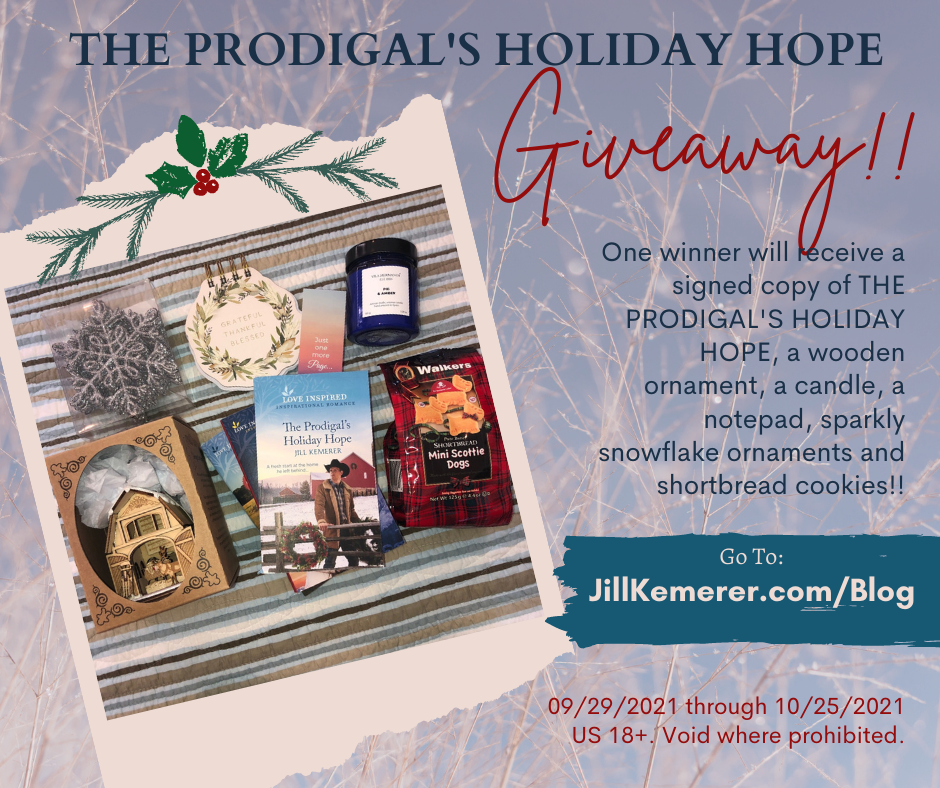 Book Giveaway Package For The Prodigal's Holiday Hope